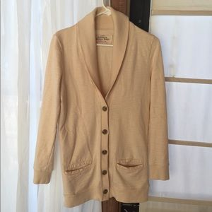 J.Crew rumpled French terry cardigan